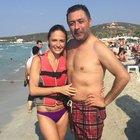Sinem Öztürk ile eşi Mustafa Uslu tatilde