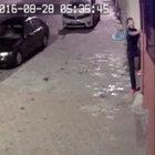 Hırsızın örümcek adam gibi tırmanarak yaptığı soygun kamerada