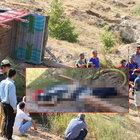 Adıyaman'da devrilen kamyonun altında kalarak öldü
