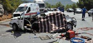 Antalya'da yürek burkan kaza! Anne ve minik oğlu öldü