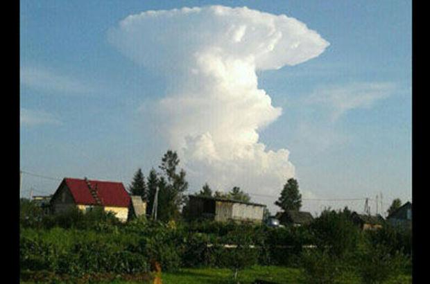 mantar şeklinde bulut sibirya