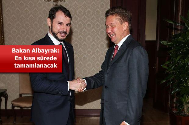 Bakan Albayrak Gazprom heyetini kabul ediyor