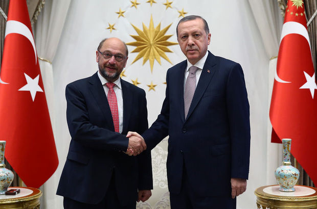 Cumhurbaşkan Erdoğan, Martin Schulz