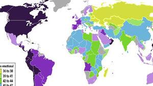 """Dünyanın en """"duygusal"""" ve en """"duygusuz"""" ülkeleri"""