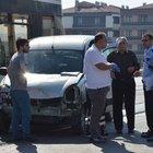 Eskişehir'de tramvay ile araç çarpıştı
