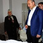 Süleyman Soylu bombalı saldırıda yaralananları ziyaret etti
