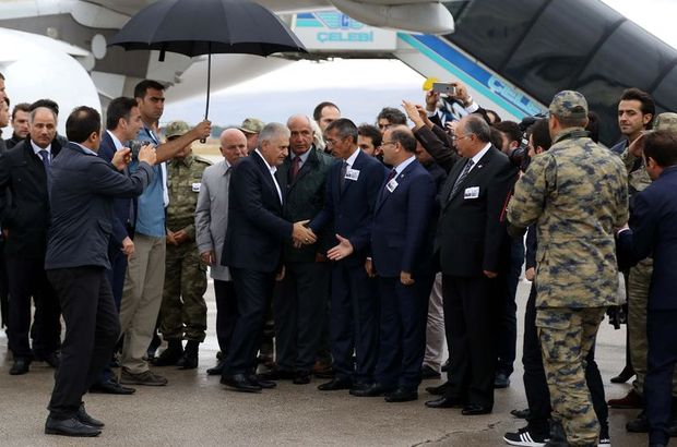 Başbakan o şehitler için Erzurum'da