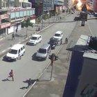 Van'daki patlama anı mobese kamerasına böyle yansıdı