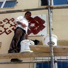 Sivas'ta okulun müdürü tatilde işçi gibi çalıştı