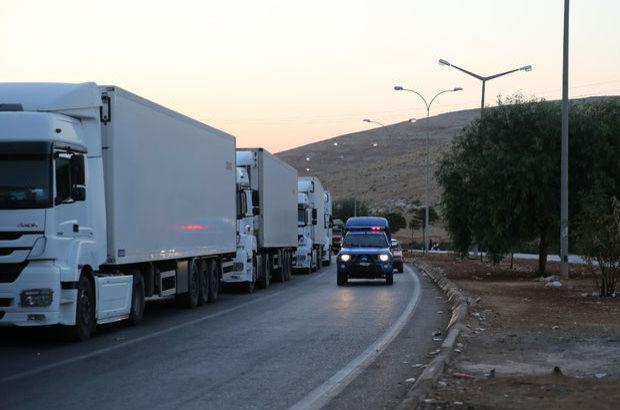 Suriye rejimi yardım kafilesini bombaladı