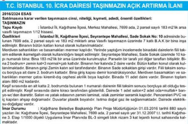 T.C. İSTANBUL 10. İCRA DAİRESİ