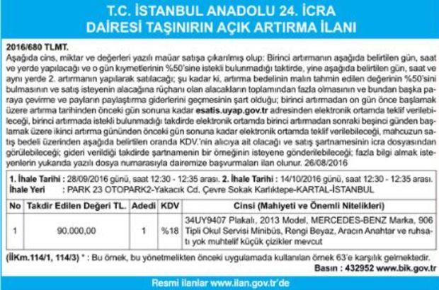 T.C. İSTANBUL ANADOLU 24. İCRA DAİRESİ
