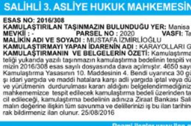 SALİHLİ 3.ASLİYE HUKUK MAHKEMESİ