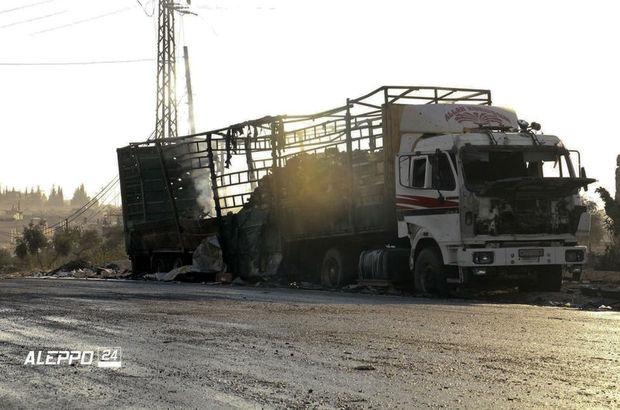 suriye bm insani yardım konvoyu saldırı