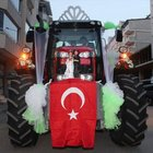 Muş'ta bir çift traktörü gelin arabası yaptı