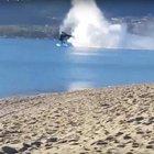 Yunan askeri helikopterinin düşüş anı böyle görüntülendi