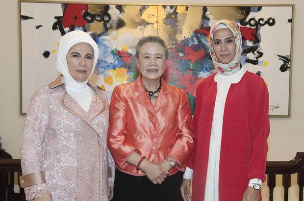 Emine Erdoğan Ban Ki-Moon'un eşinin çay davetine katıldı