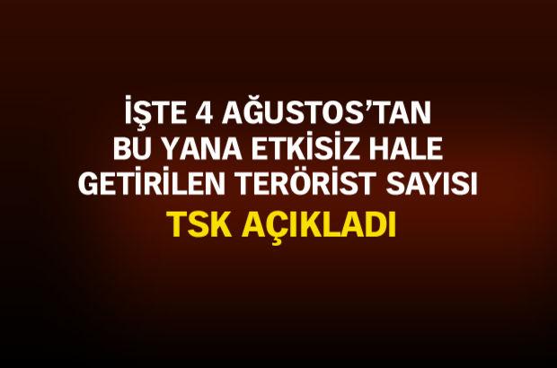 Yüksekova'da 28, Hakkari'de 301 terörist etkisiz hale getirildi