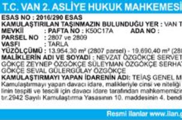 T.C. VAN 2.ASLİYE HUKUK MAHKEMESİNDEN