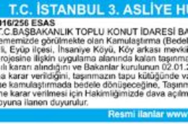 T.C. İSTANBUL 3.ASLİYE HUKUK MAHKEMESİNDEN