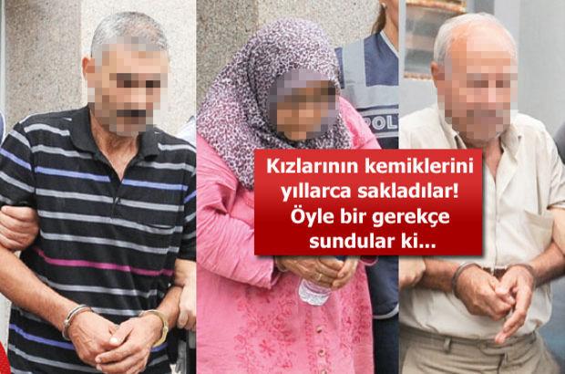 Öldürdükleri kızlarının kemiklerini yıllarca evlerinde sakladılar