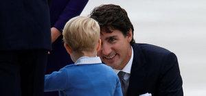 Küçük prens Kanada Başbakanı'ndan rol çaldı