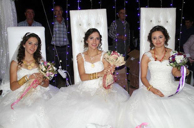 Üç geline bir düğün