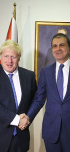 AB Bakanı Ömer Çelik ve İngiltere Dışişleri Bakanı Boris Johnson görüştü