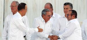 Kolombiya'da tarihi anlaşma imzalandı