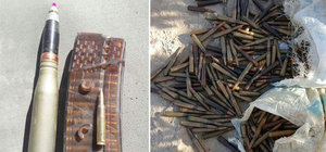 Hakkari'de PKK'ya ait mühimmat ve patlayıcı ele geçirildi