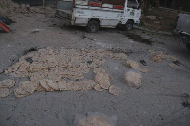 Halep'te ekmek fırınına hava saldırısı!