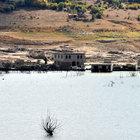 Sular çekildi, eski köy ortaya çıktı