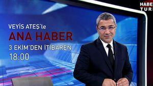 """Veyis Ateş'le """"Ana Haber"""" 3 Ekim Pazartesi'den itibaren Habertürk TV'de"""