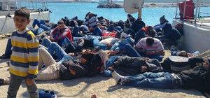 Balıkesir'de 63 kaçak göçmen yakalandı