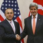 Dışişleri Bakanı Mevlüt Çavuşoğlu ABD Dışişleri Bakanı Kerry ile Suriye'yi görüştü