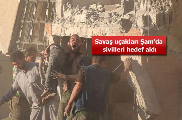 Esad rejimi 'deprem etkisi yaratan' bombalarla çocukları katletti!