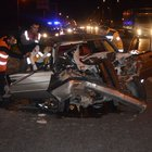 TEM Otoyolunda Karayolları ekiplerine otomobil çarptı: 5 yaralı