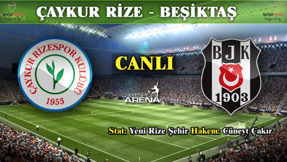 Çaykur Rizespor - Beşiktaş canlı takip