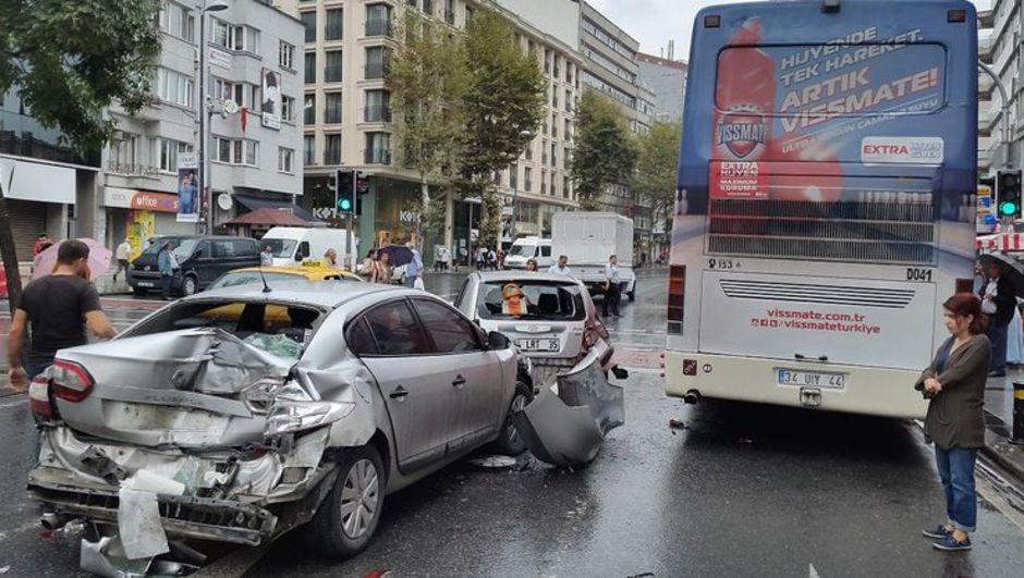 otobüs kazası, şişli