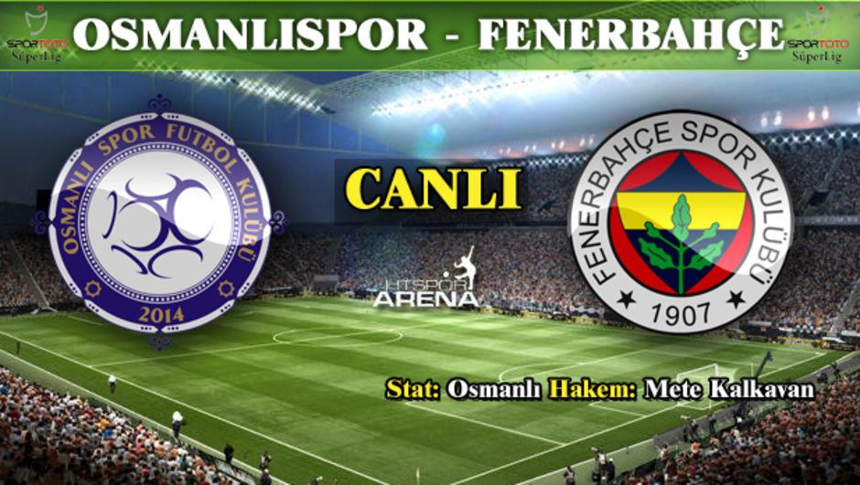 Osmanlıspor: 1 - Fenerbahçe: 1 maç özeti