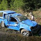 Samsun'da askeri araç uçuruma yuvarlandı