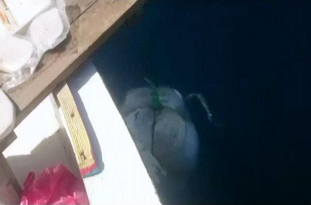 Oltaya bu kez balık değil esrar takıldı