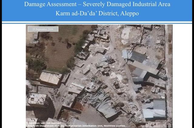 BM, Halep'te iki haftada gerçekleşen yıkımın fotoğraflarını yayımladı