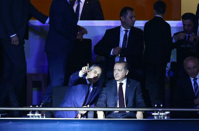 Cumhurbaşkanı Erdoğan, Cumhurbaşkanlığı Kupası maçını izledi