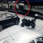 Beşiktaş'ta oyomobilin çarptığı taksi metrelerce sürüklendi