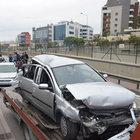 BURSA'DA ZİNCİRLEME KAZA! TAM 9 ARAÇ...