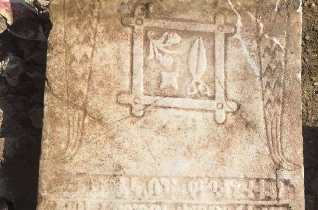 Tekirdağ yol çalışması sırasında mezar taşları bulundu