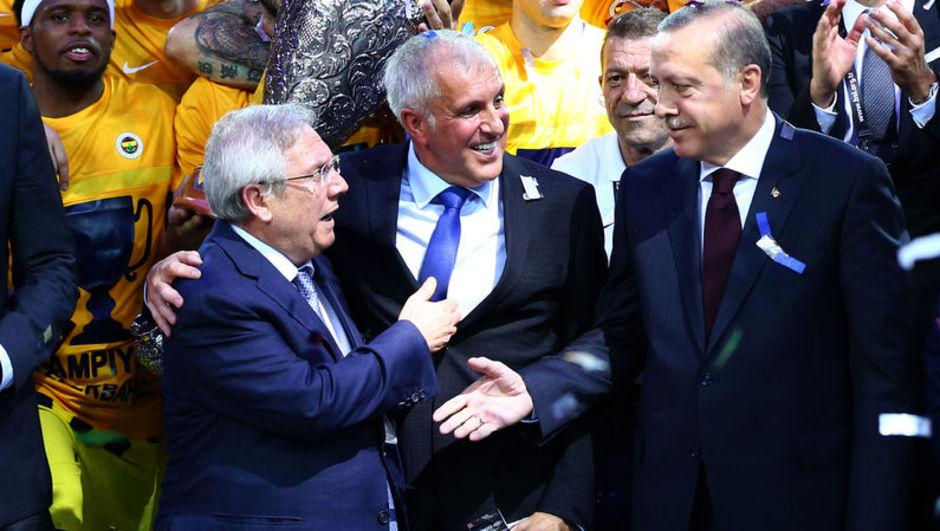 Zeljko Obradovic Cumhurbaşkanı Erdoğan