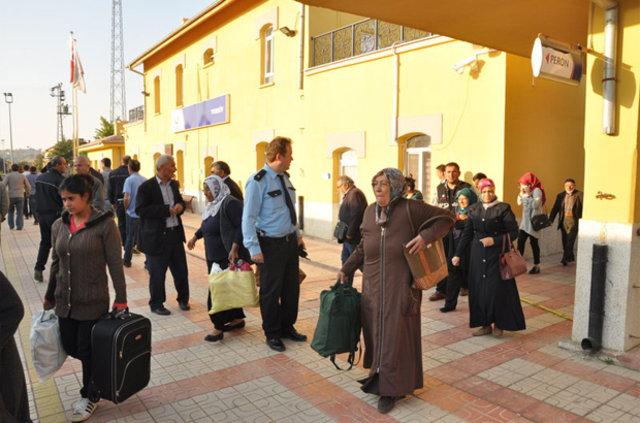 Yozgat'ta yolcu treninde şüpheli çanta ihbarı