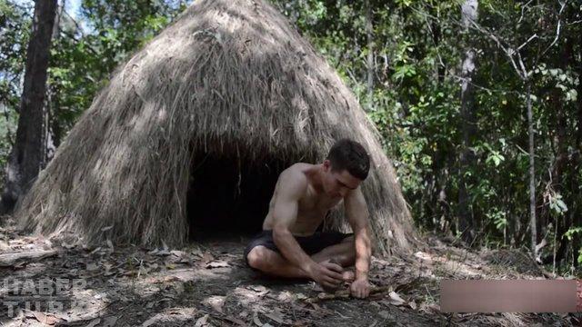 Doğadaki malzemelerden mızrak yaptı, mızrak nasıl yapılır?